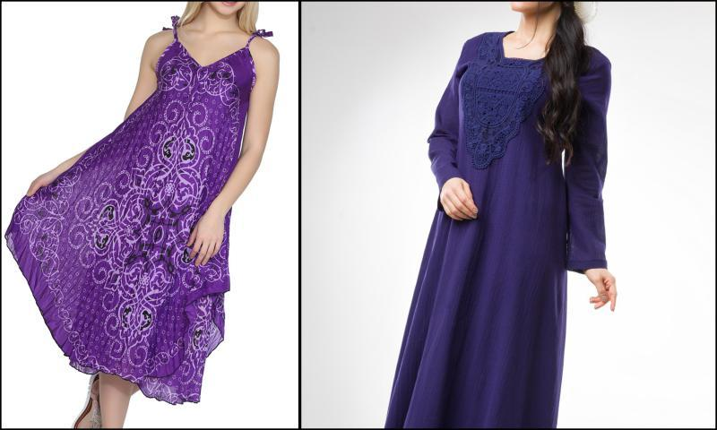 Renkli Şile Bezi Elbise Modelleri