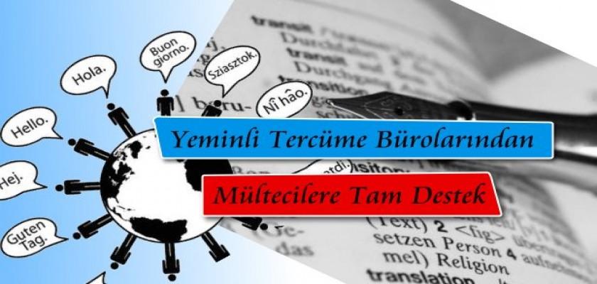 Yeminli Tercüme Bürolarından Mültecilere Destek